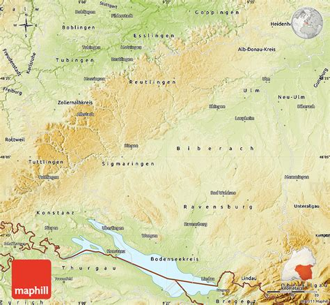 tubingen germany map physical map of t 252 bingen