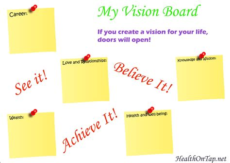 vision board template best vision board templates ideas resume ideas
