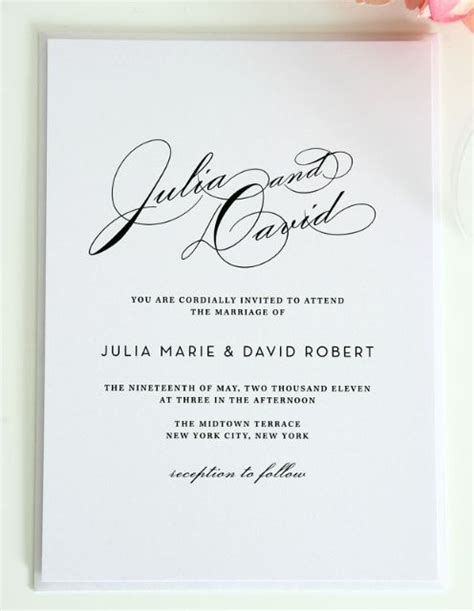Wedding Invitation Template Works by Marvelous Wedding Invitations Theruntime