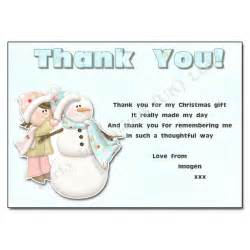 building a snowman thank you note thank you