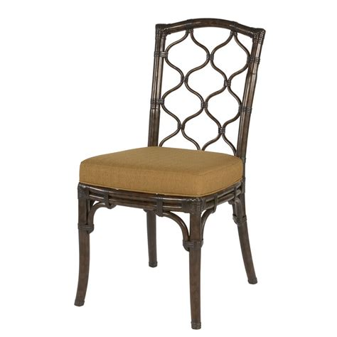 Cushion Dining Chairs Hammary Boracay Dining Chair In Rattan W Fabric Cushion Beyond Stores