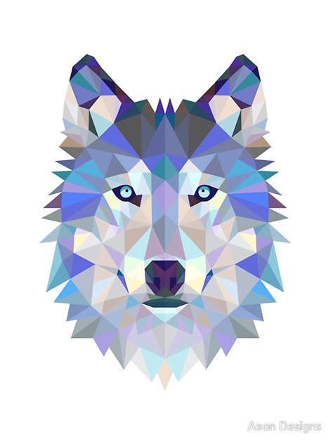 Wall Sticker Vinyl quot geometric wolf quot stickers by aeon designs redbubble
