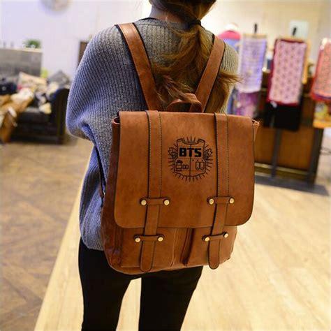 korean design pu ٩ ۶ leather leather backpack backpacks for