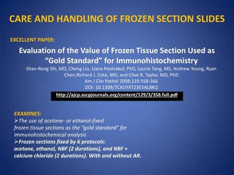 frozen section protocol ppt tissue freezing methods for cryostat sectioning