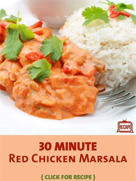rachael ray 30 minute make ahead red chicken marsala recipe chicken marsala chicken marsala