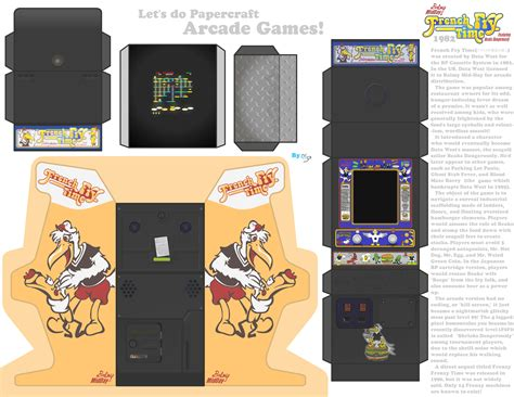 Papercraft Arcade - papercraft arcade machine 1 fry time by