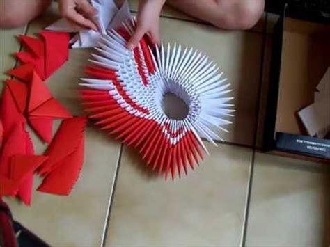 3d origami winged swan tutorial 3d origami big red winged swan part 1 youtube