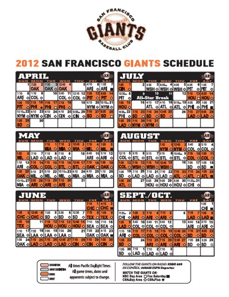 printable schedule for sf giants 301 moved permanently