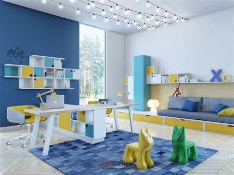 blue and yellow decor 37 joyful kids room design ideas with blue yellow tones
