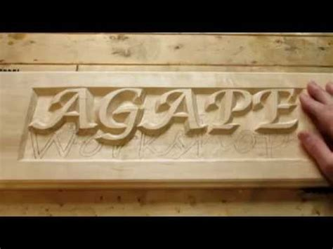 hand carving raised letters part youtube