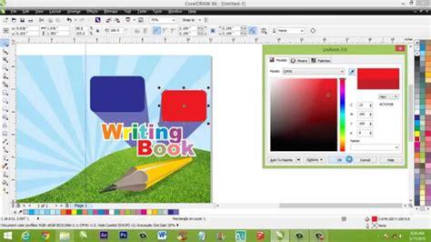 tutorial coreldraw membuat desain tutorial desain grafis cara membuat sul buku di