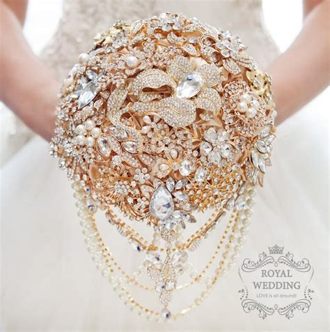 Wedding Bouquet Gold by Bridal Bouquet Brooch Bouquet Gold Wedding Bouquet