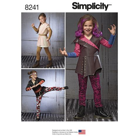 patterns sewing costumes simplicity 8241 child s warrior costumes