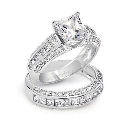 get cheap princess cut engagement ring aliexpress