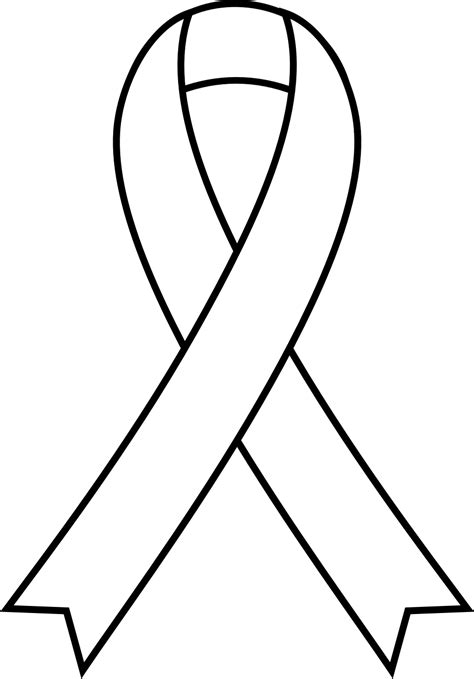 cancer awareness ribbon clipart clipart suggest