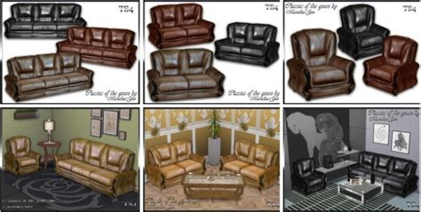 blues set furniture and decor at maruska geo 187 sims 4 updates set classics of the genre sofa love seat living chair at