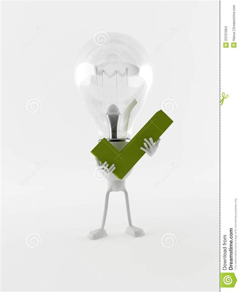 light bulb checker lightbulb and check stock images image 23731664