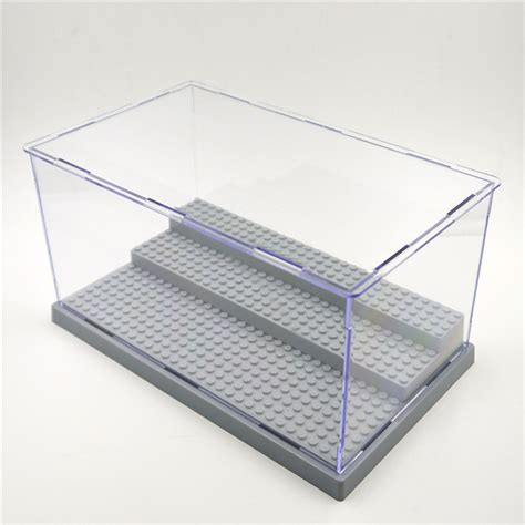 Casing Acrylic For Toys 3 steps clear acrylic display dustproof tray