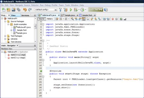 java tutorials netbeans video hello javafx 2 0 introduction by netbeans 7 1 beta