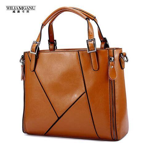 Leather Patchwork Handbags - renzamganu fashion patchwork designer split leather bags