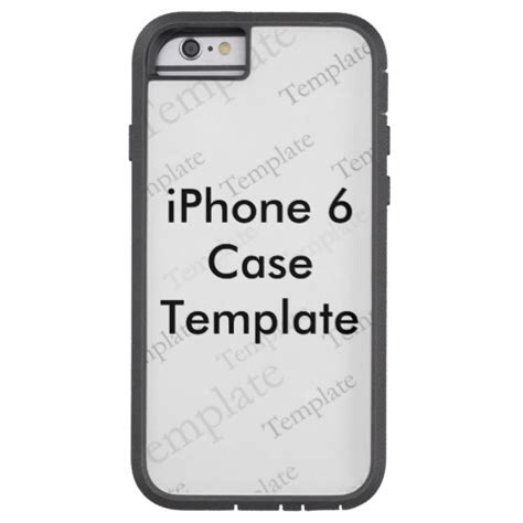 template of iphone 6 new iphone 6 tough custom template zazzle