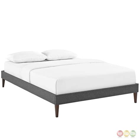 modern king bed frame sharon modern king fabric platform bed frame with square