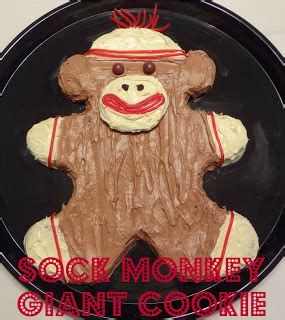 attack   hungry monster sock monkey giant cookie