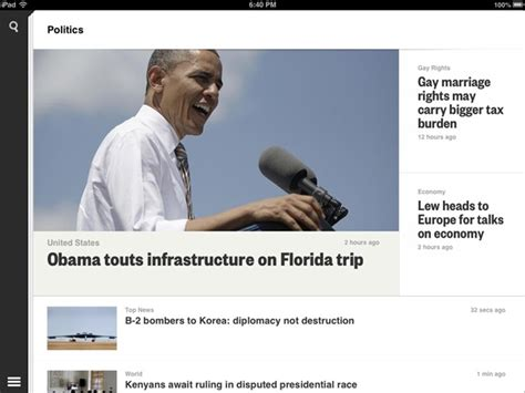 political section best free ipad app of the week reuters ipad insight