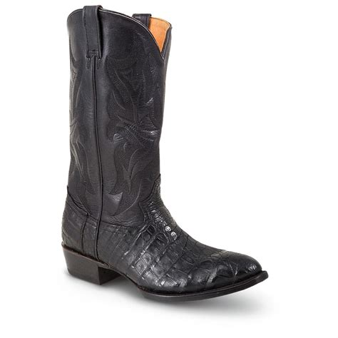stetson boots for s stetson 174 13 quot chandler caiman western boots black