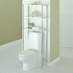 Unfinished Bathroom Space Saver Bathroom Racks Glacier Spacesaver In Chrome 16951 Oifs30