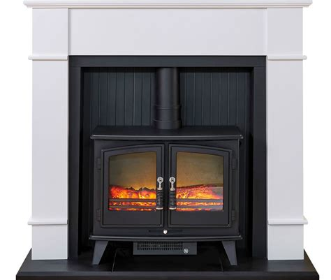 modern contemporary white freestanding free standing electric black stove white modern surround freestanding