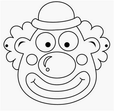 clown mask template clowns free printable coloring masks or templates is it