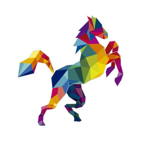 imagenes vectores caballos ilustraci 243 n poligonal de un caballo descargar vectores