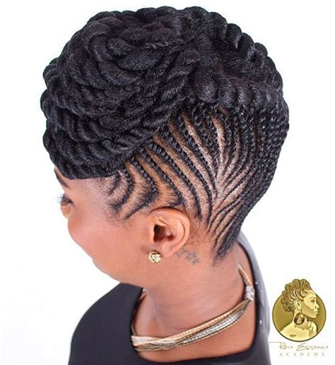 easy black cornroll updo hairstyles to do at home 20 hottest flat twist hairstyles for this year