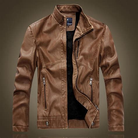 Jaket Wanita Bomber Brown Jacket F109 discount brown faux leather bomber jackets pu coats mens