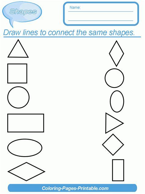 printable shapes for kindergarten shapes worksheets for kindergarten