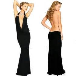 Halter backless ice silk long prom dress trendy mods com