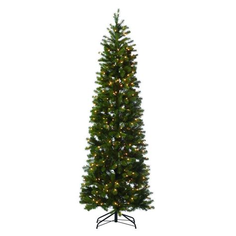 7 fr martha stewart slim christmas tree martha stewart living 7 ft indoor pre lit led downswept douglas fir slim artificial