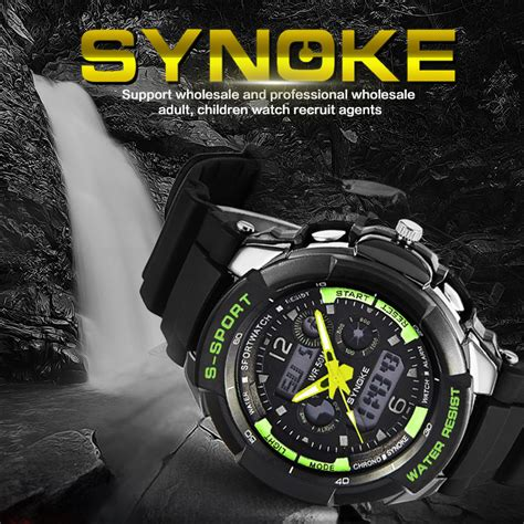 Digitec Army Dualtime Original original synoke army sports watches swim dual time waterproof watches for