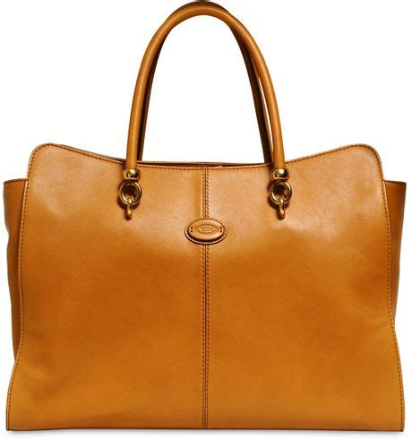 Sella Top tod s large sella leather top handle in brown lyst