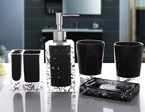 luxury bathroom soap dispensers yiyida ice series bathroom set 5pcs luxury acrylic
