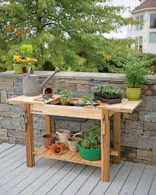 Garage Workbench Design potting bench cedar potting table with soil sink