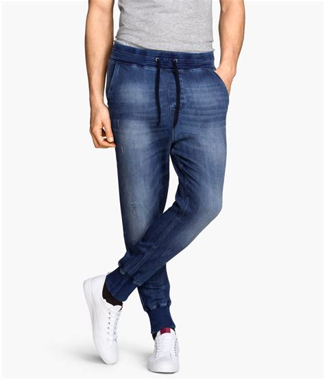 H M Joger 4 h m joggers in blue for lyst