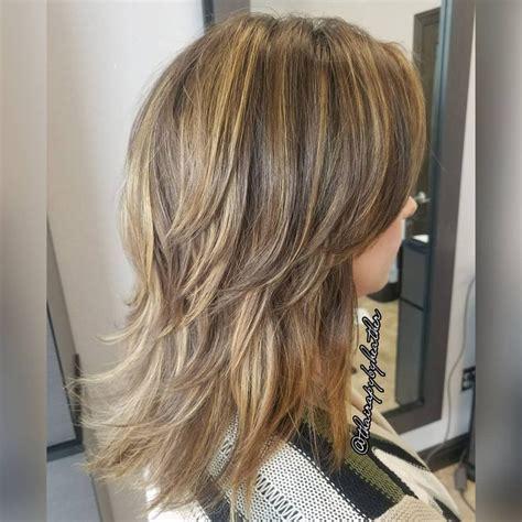 Modern Medium Hairstyles by 45 Chic Medium Shag Haircuts For 2018