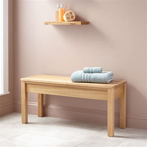 Bathroom Benches Oak Bathroom Bench Bathroom