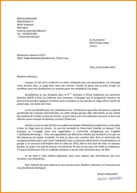Exemple Lettre De Motivation Ecole De Commerce Master 13 Lettre De Motivation Ecole De Commerce Format Lettre