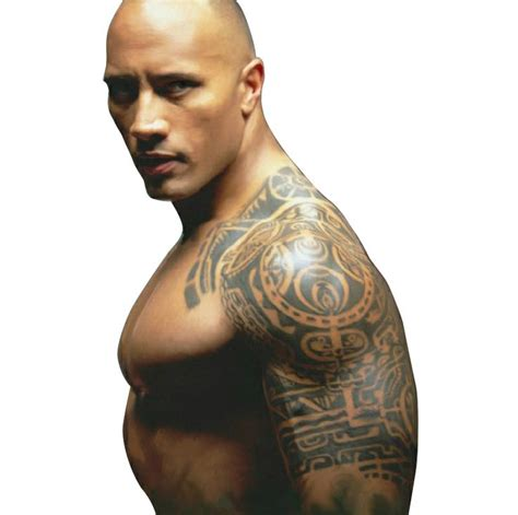 the rock chest tattoo temporary stickers large waterproof arm chest
