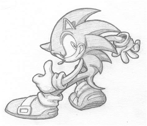 White Gray Sonic Top cool grey pencilwork sonic the hedgehog design