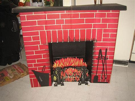 my cardboard fireplace we had this memories