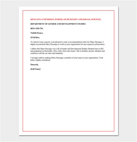 school letter of recommendation letter of recommendation for a graduate school 5 sle